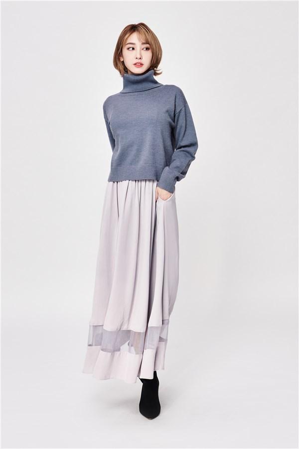 藍莓優格高領毛衣